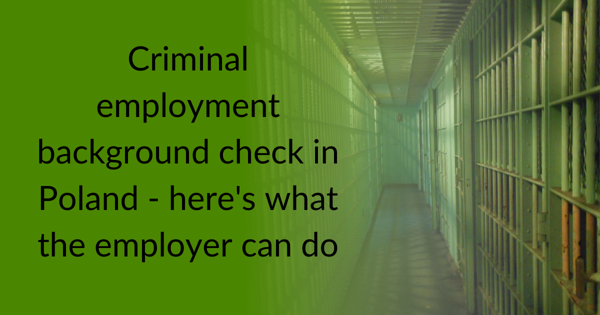 criminal employment background check