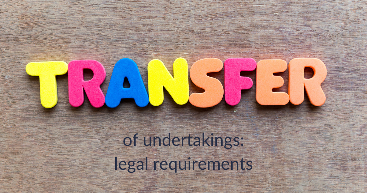 transfer of undertakings legal requirements