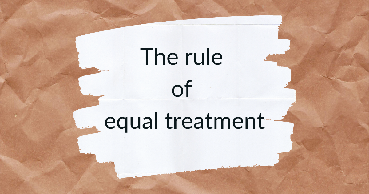 equal treatment